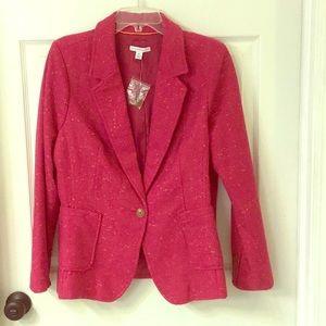 Isaac Mizrahi Single Closure Tweed Blazer